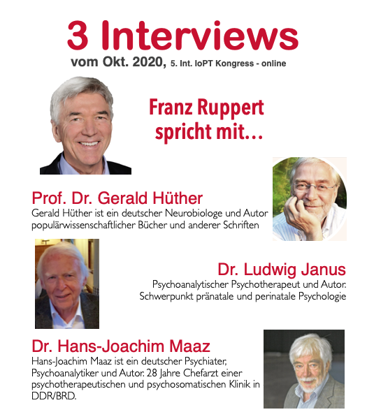 Franz Ruppert und drei Interviewpartner vom Kongress 5 in 2020