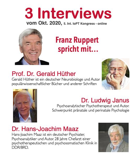 Franz Ruppert und drei Interviewpartner vom Kongress 5 in 2020